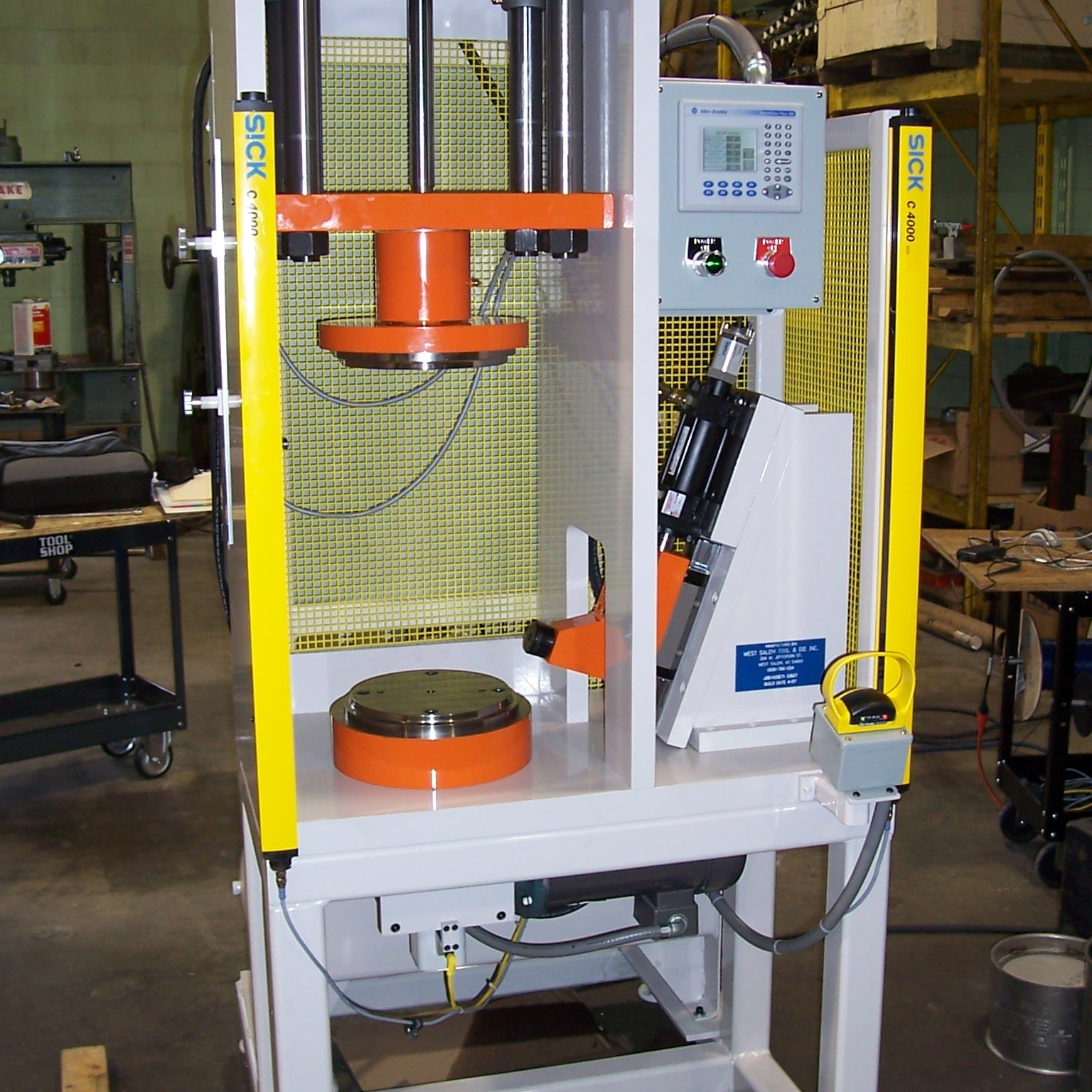 Custom Hydraulic Presses with Custom Tooling