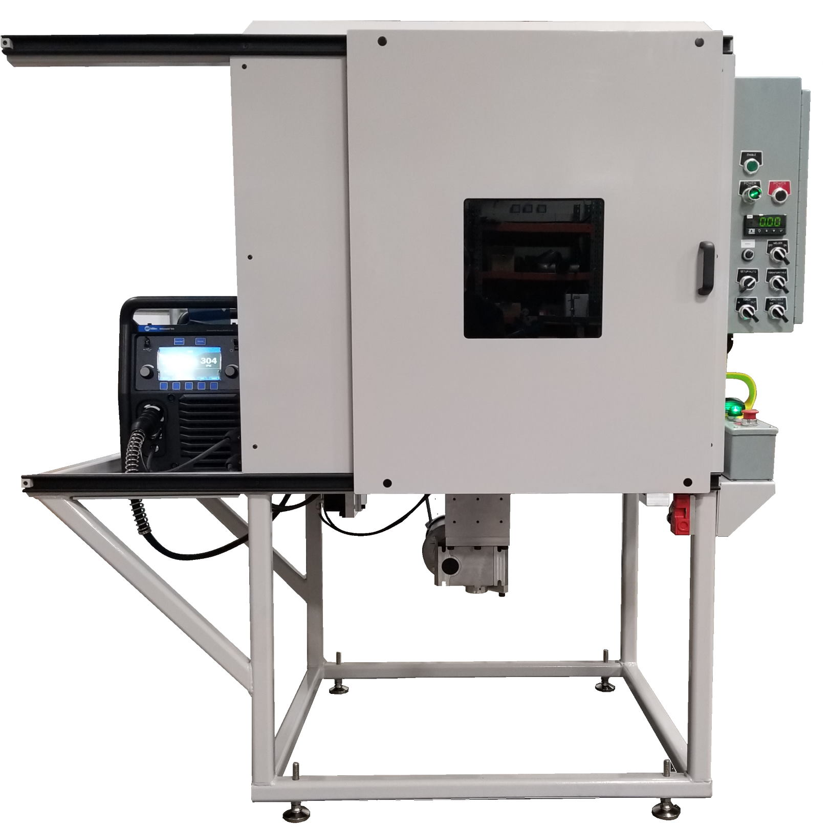 One of our fully automatic welding machines